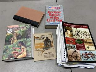 Group of auction catalogs, books on Native Americans