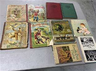 Group lot of assorted antique, vintage books