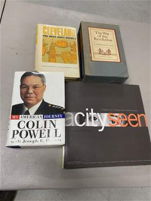 Group lot of books including signed Colin Powell