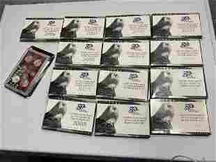 14 Silver State Quarters Sets in packaging