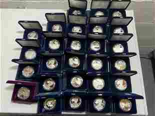 27 US Mint Silver Dollar Coins