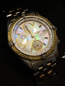Breitling Chronomat Automatic Watch w/18k Gold Bezel.