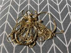 Large lot of 14k gold jewelry