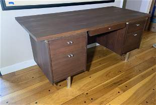 Walnut Mid-century Modern Desk