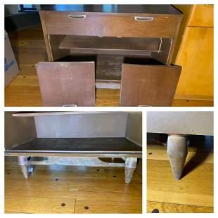 2 Door Cabinet with Drawer by Broyhill Premier w/walnut