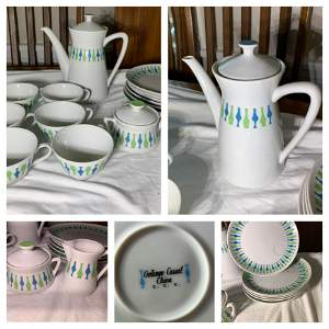 Group of Mid-century Contempo Casual China
