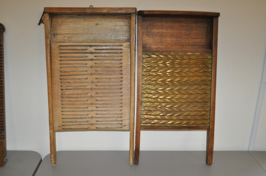 Pair of antique washboards.