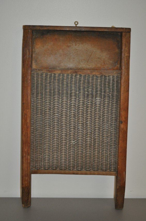 Antique washboard.