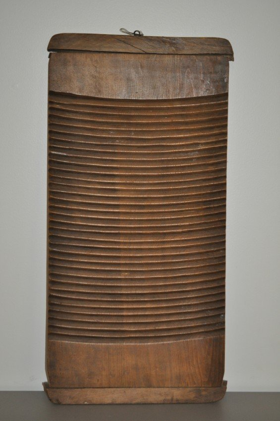 19th c. Hand Carved washboard.
