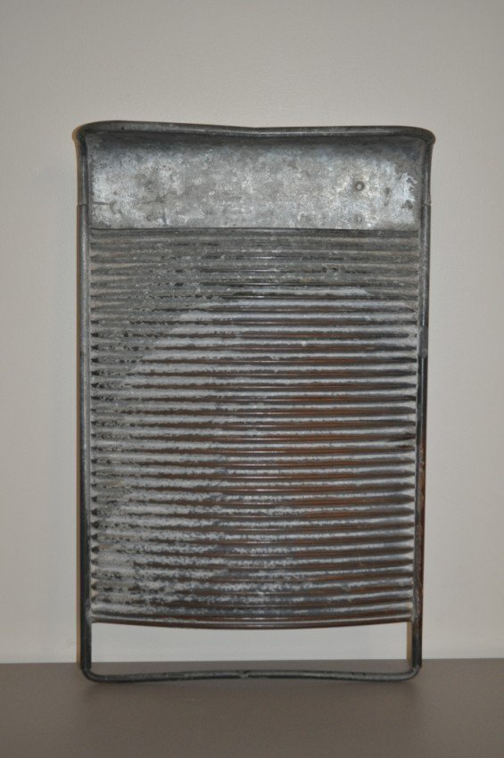 All metal antique washboard.