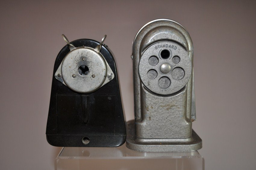 Two rare antique pencil sharpeners. Dahle 55 and Ranger