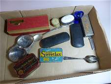 Group lot of antique smalls.