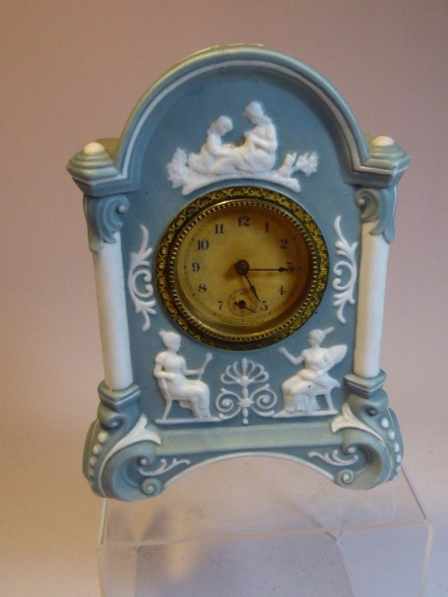 Ceramic Blue New Haven Clock