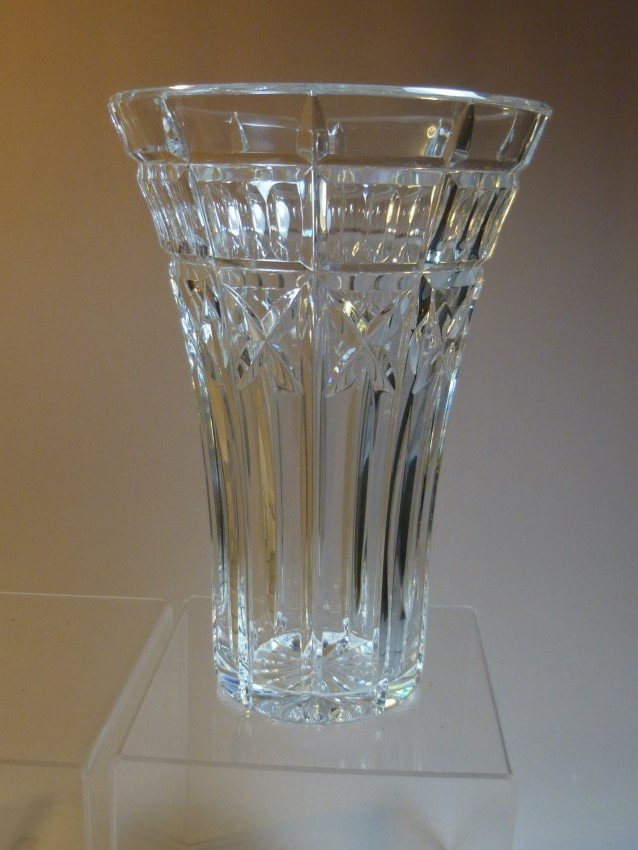 Cut Crystal Vase.