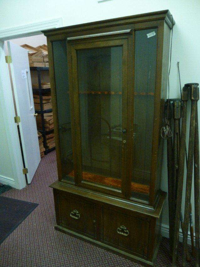 Vintage Wooden Gun Cabinet