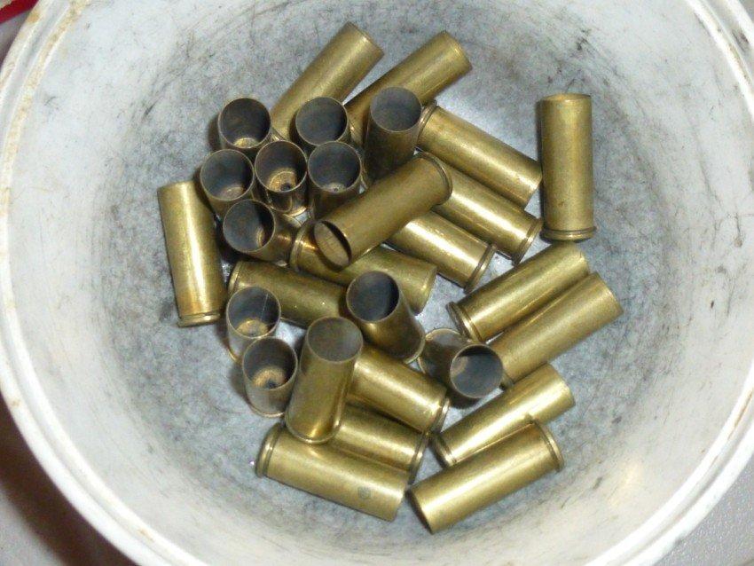 Box lot of shell casings.