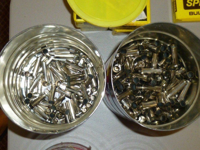 2 Box lot of shell casings.