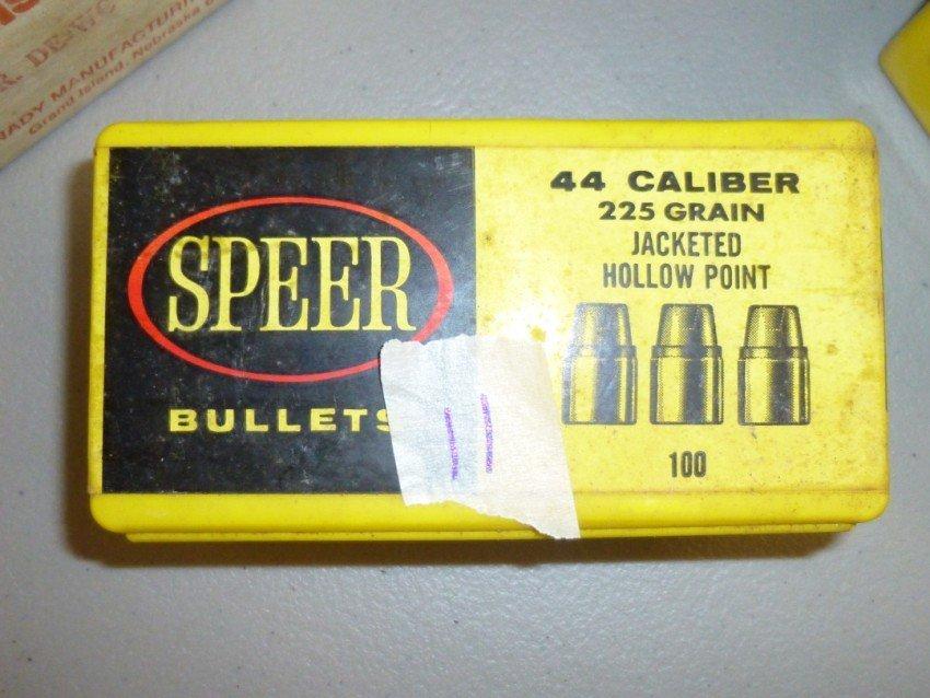 Box of 44 Caliber Bullets.
