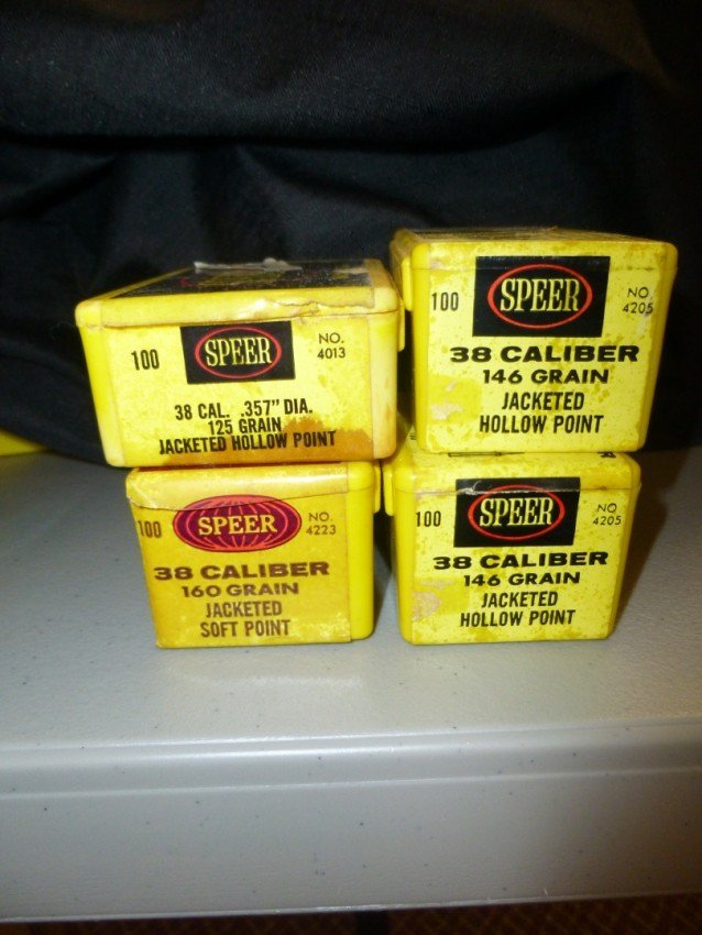 Four boxes of 38 Caliber Bullets