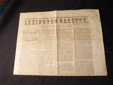 Confederate Newspaper - Virginia 1862.