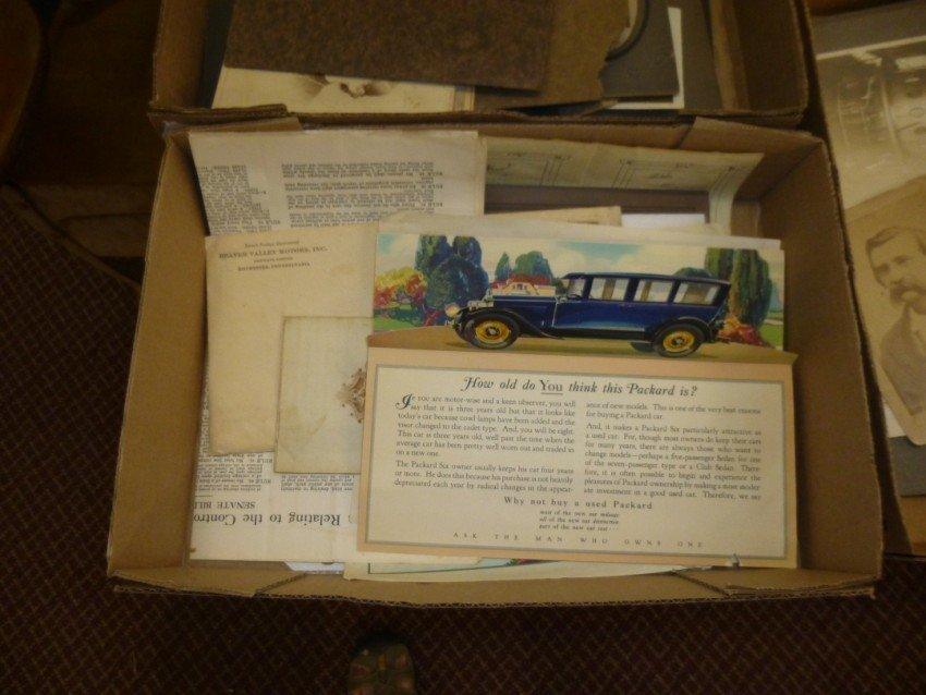 Box lot of vintage ephemera.