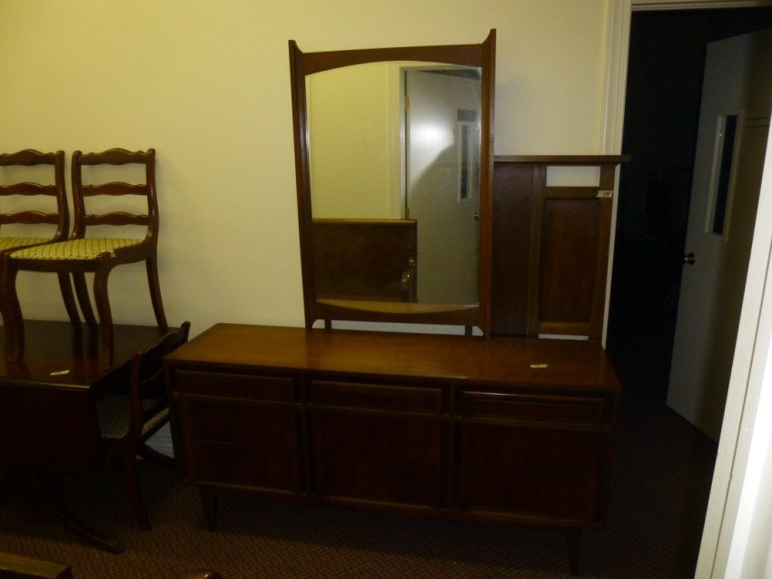 Long Dresser and Mirror PLUS Full Headboard.