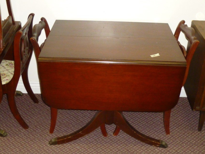 Mahogany drop-leaf table