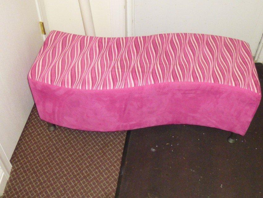 Funky Pink Footstool.