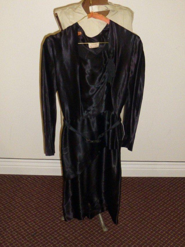 Black Art Deco belted Dress