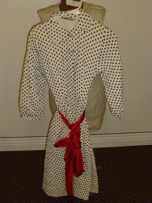 50's Polka-Dot Belted Dress