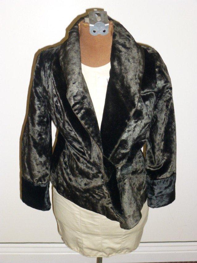 Vintage Lady's black velvet jacket.