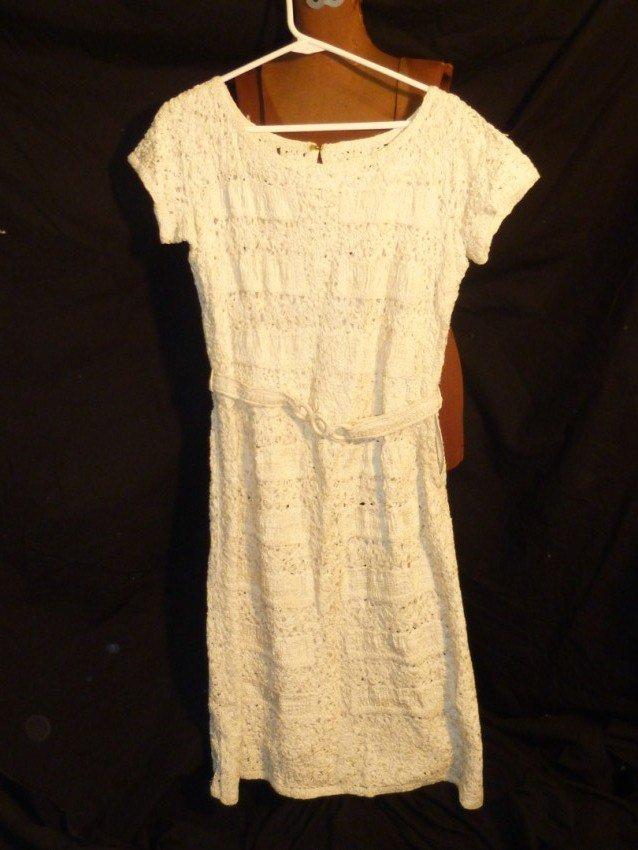 Vintage White Crochet dress