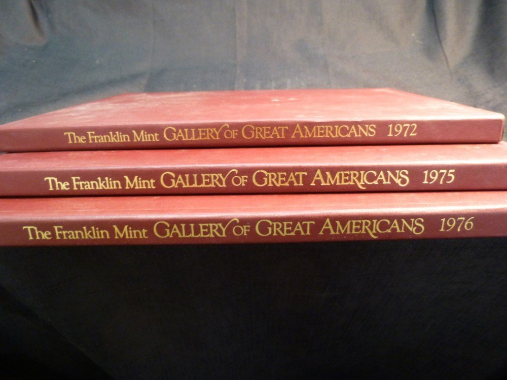 3 Gallery of Great Americans Coin Sets.
