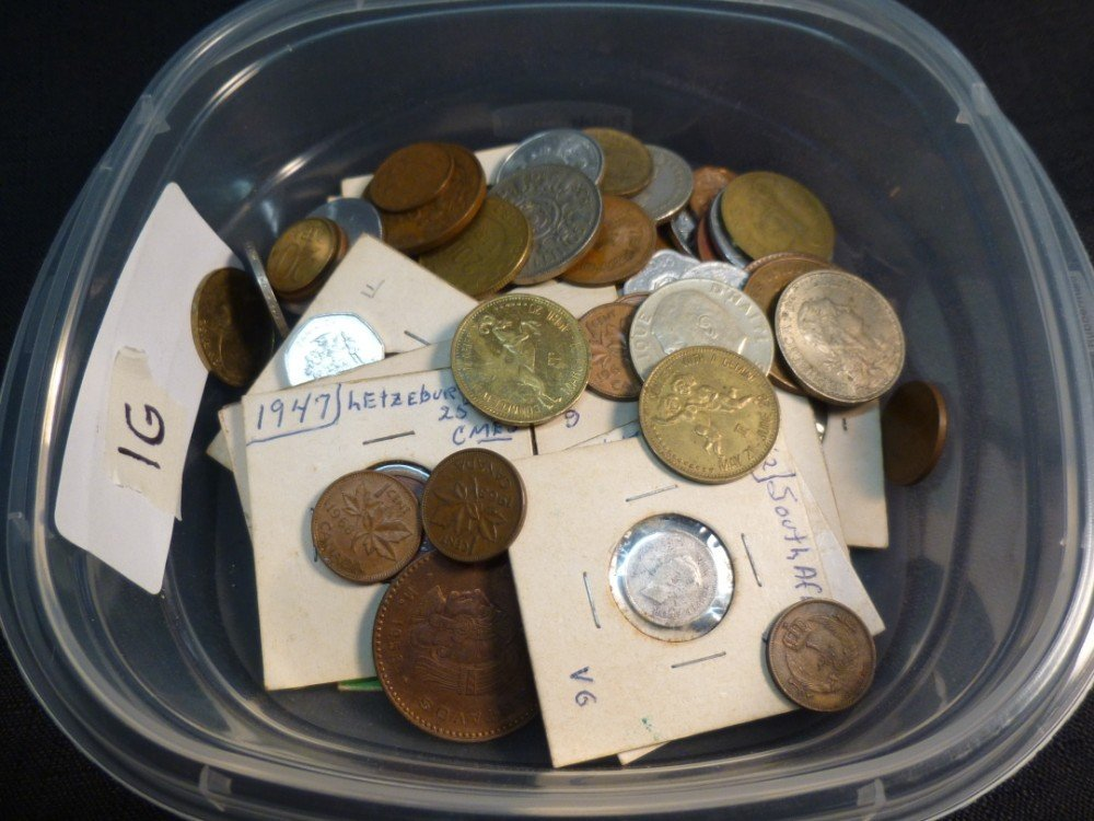 Group lot of foreign coins