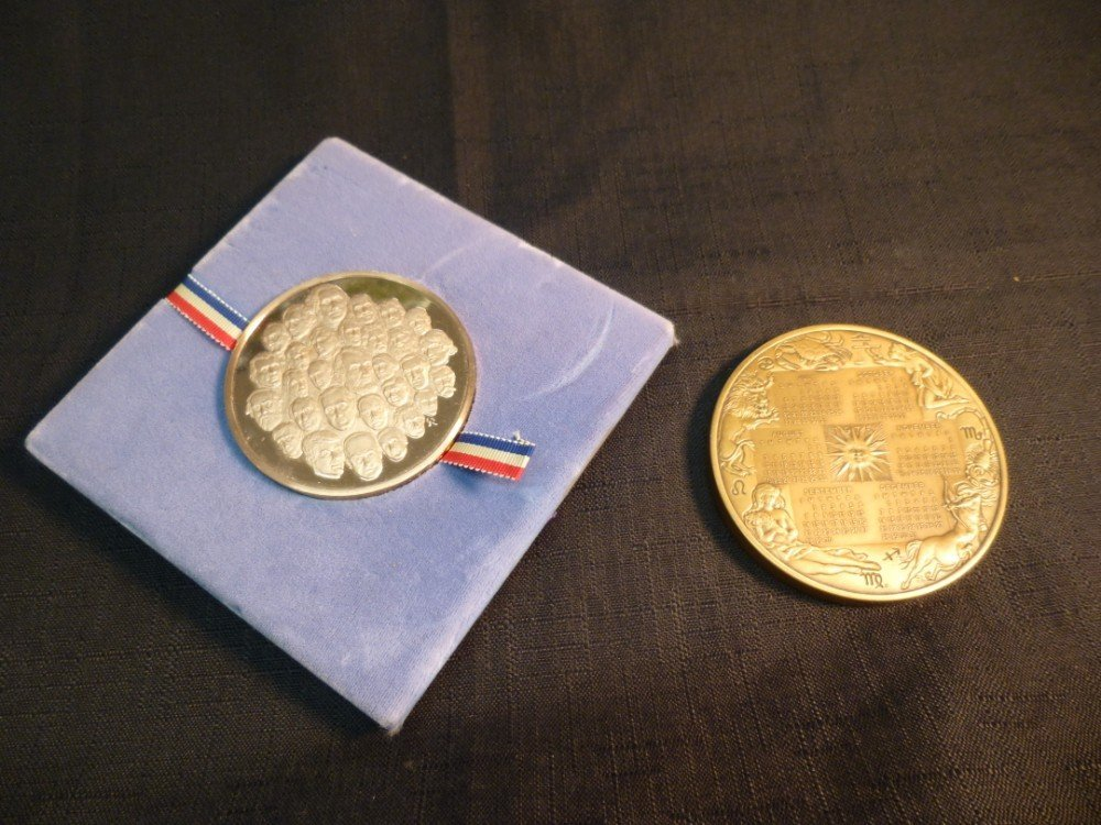 Two Medals - Calendar and Presidential