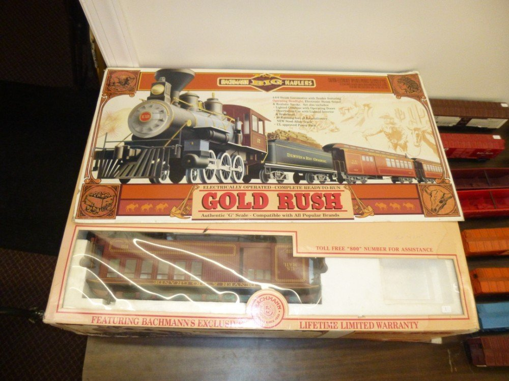 Bachmann gold rush G scale train set