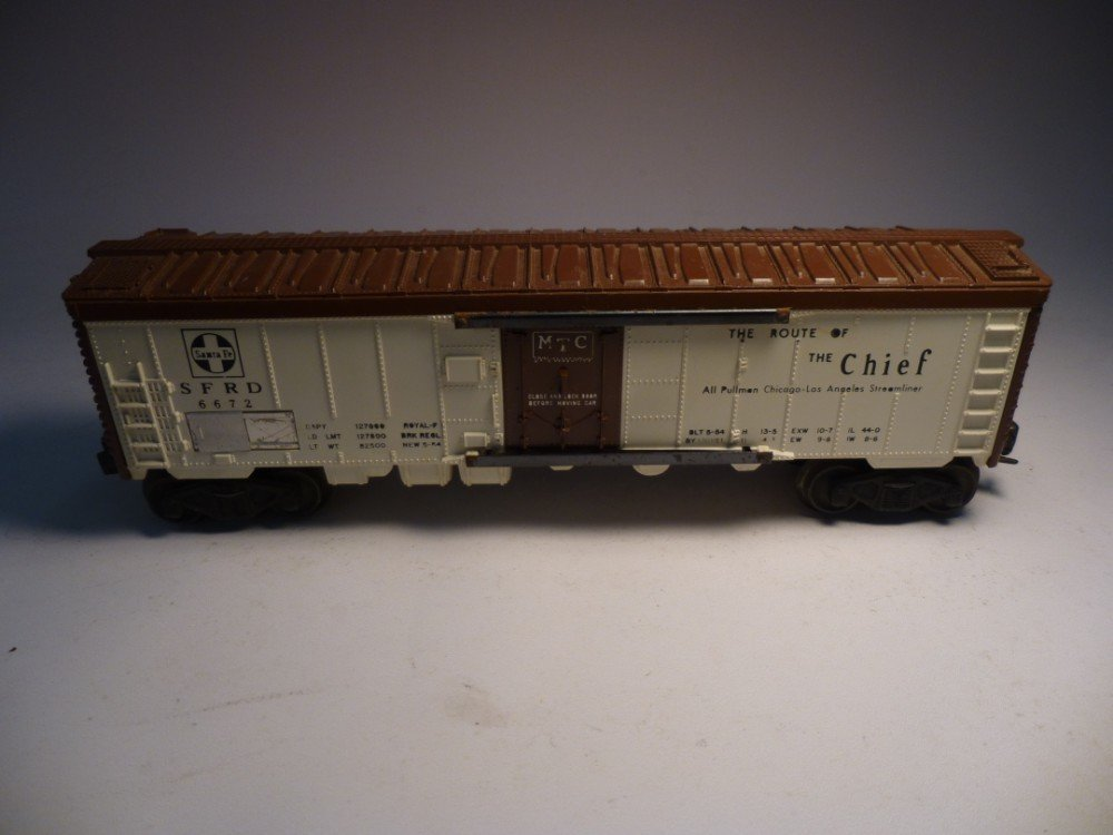 Lionel Model Railroad Car 6672 Santa Fe