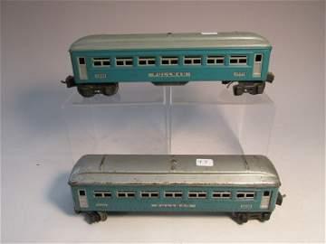 2 Lionel model railroad Pullman cars
