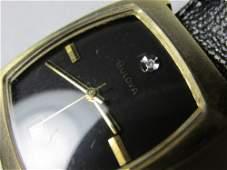 Unusual 60s or 70s Gold Filled Bulova Diamond Watch