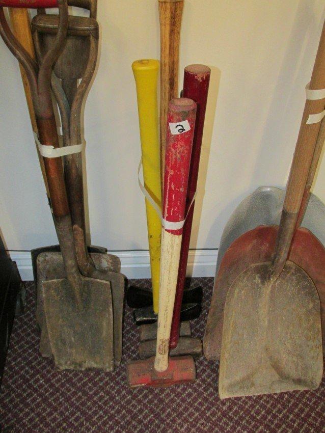 Sledge hammer, splitting maul etc lot