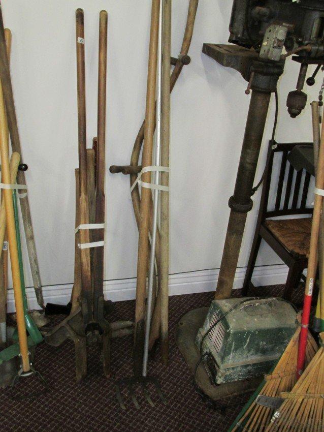 Tool handles and rake lot