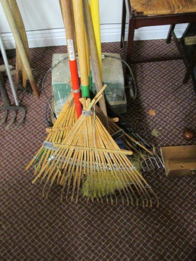 Rake and broom lot.