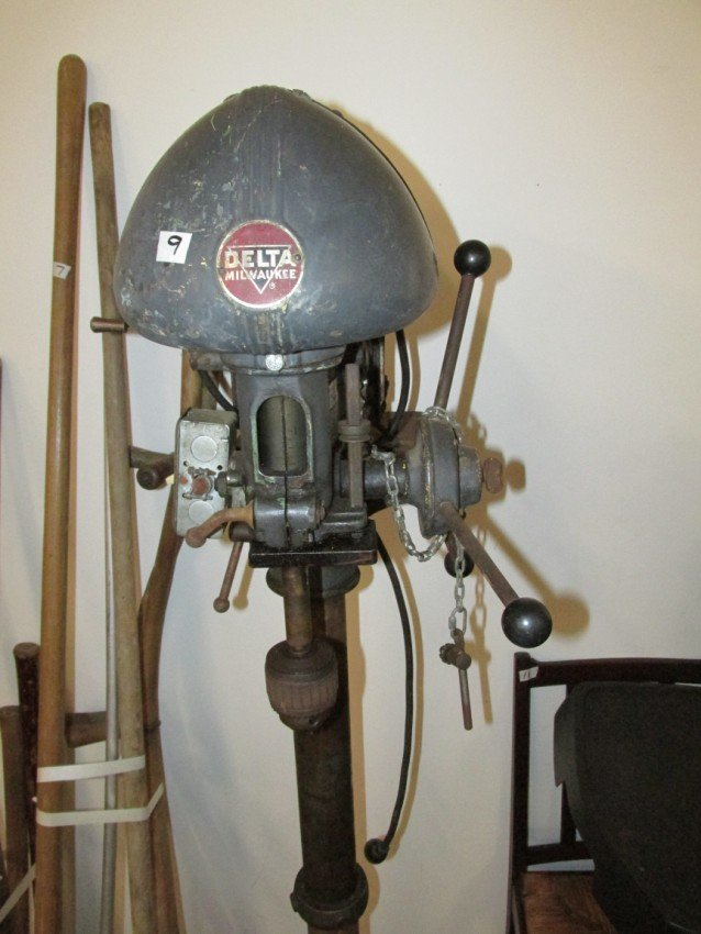 Delta Milwaukee Drill Press PLUS air compressor - 4
