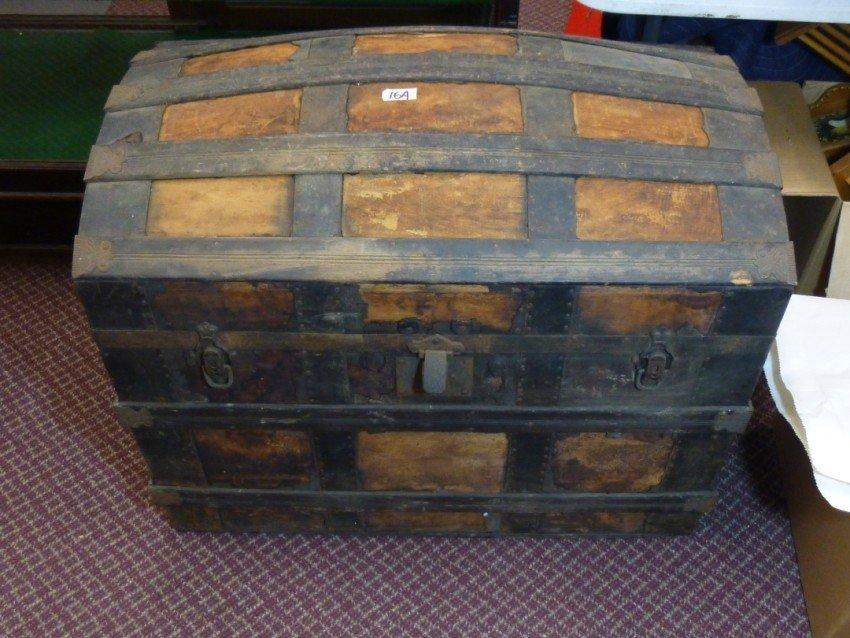 Large sized antique trunk