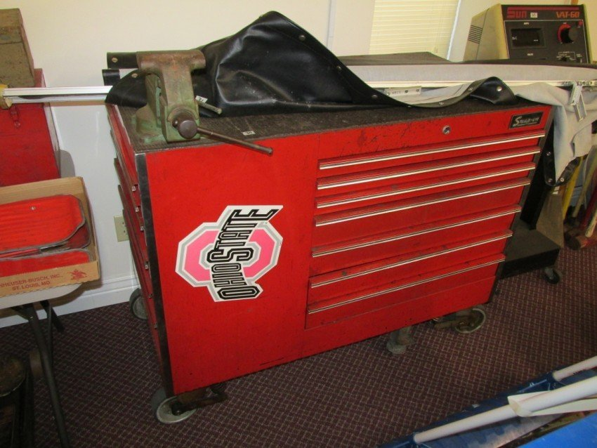 Large Roll-around Snap-On Tool Box, Work station