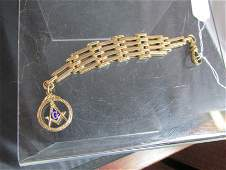 Antique gold filled Masonic Watch Fob.