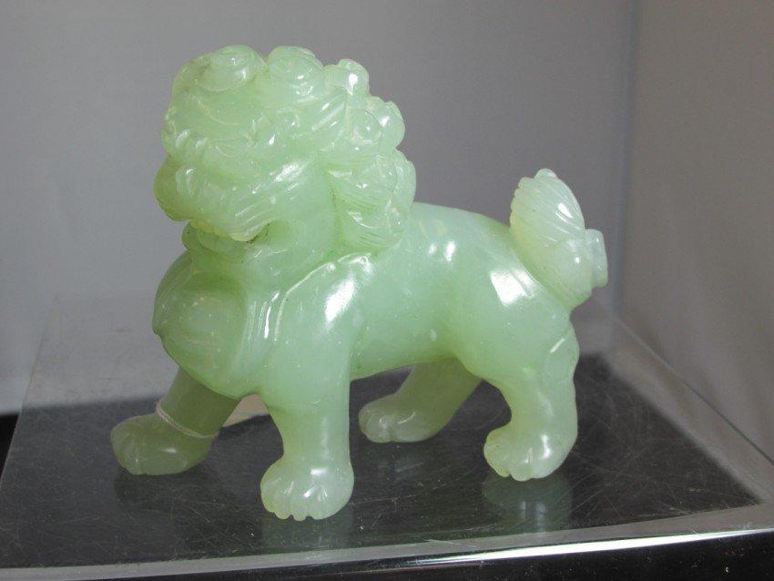 Finely carved Jade Foo Dog or Lion