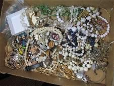 Large box lot of costume jewelry
