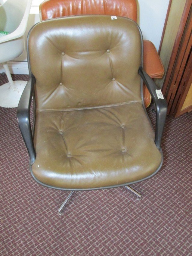 Pleather retro office chair