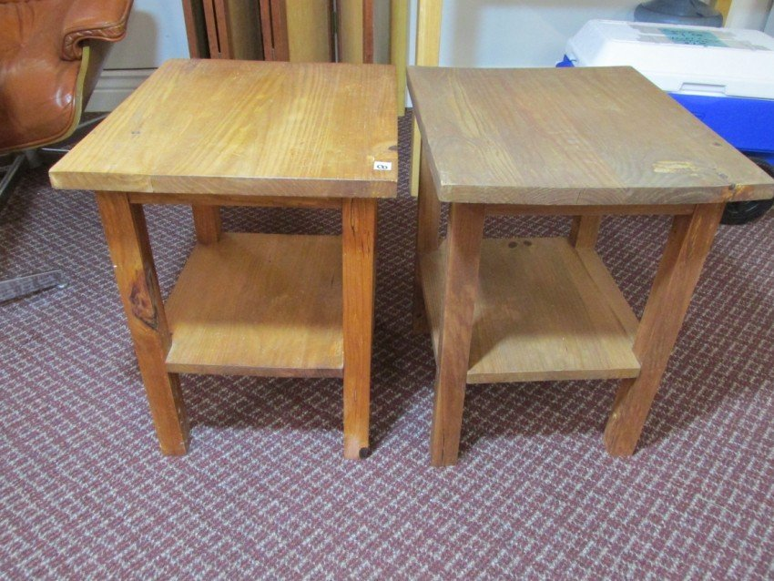 Pair of Pine End Stands
